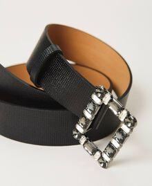 Gürtel aus geprägtem Leder mit Schmuckschnalle Amarena Frau 202TA434F-01