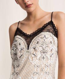 Кружевное платье-комбинация с вышивками Слоновая кость женщина 201TP2463-04