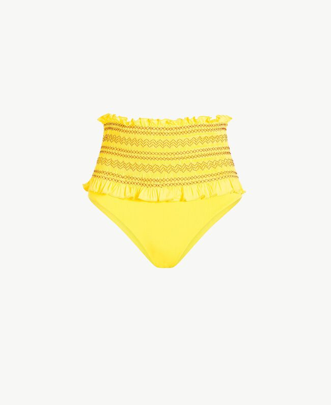High waisted embroidered briefs Yellow Fizz Woman MS8AZZ-01