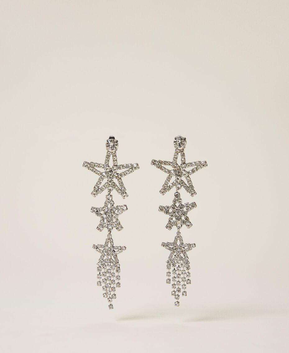 Earrings with rhinestone stars Crystal Woman 202TA430J-01
