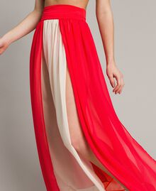 """Jupe longue avec panneaux multicolores Multicolore Rouge """"Framboise"""" / Beige """"Voie lactée"""" / """"Jus d'Orange"""" Femme 191LM2TCC-04"""