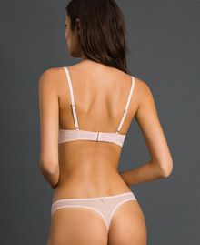 Tulle and lace G-string Pale Rose Woman 192LI6188-03