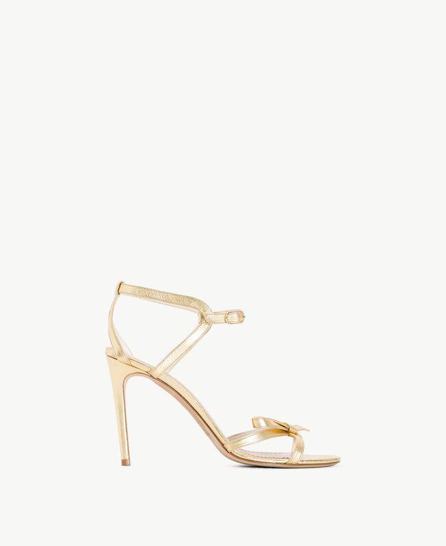 TWINSET Laminated sandals Platinum Woman CS8TDG-01