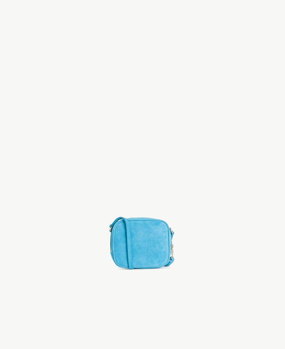 TWINSET Mini logo clutch bag Turquoise Woman OS8TEB-03