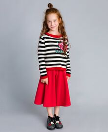 Jupe pantalon en crêpe Rouge Coquelicot Enfant GA82DC-02