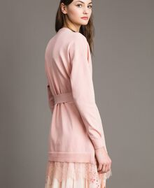 Maxi cardigan with belt Pink Pearl Woman 191TP3037-03