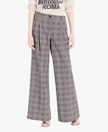 Check palazzo pants Jacquard Gingham Woman PS827Q-01