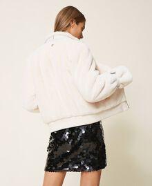 Faux fur jacket Creamy White Woman 202MP203A-04