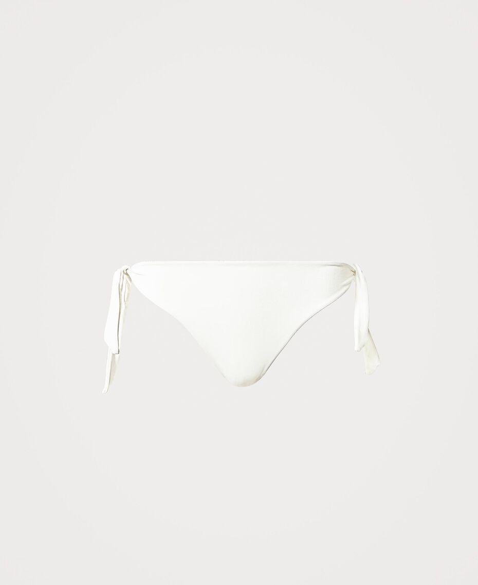 Bikinitanga mit Schleifen Elfenbein Frau 211LMMA88-0S