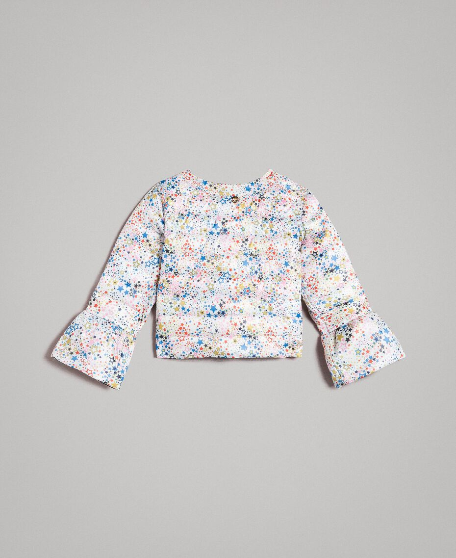 Ultra lightweight reversible puffer jacket Two-tone Indigo / Star Print Child 191GB2170-0S