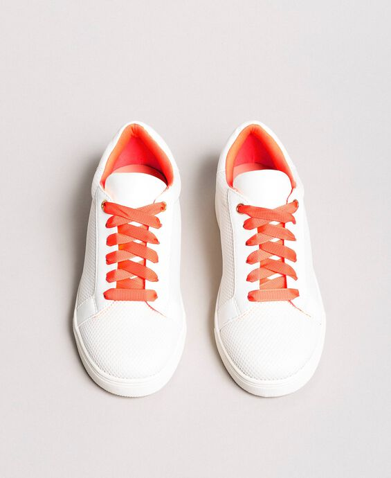 Mesh-effect fabric sneakers