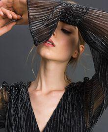 Metal creponne tulle dress Black / Silver Woman 192MT2140-04