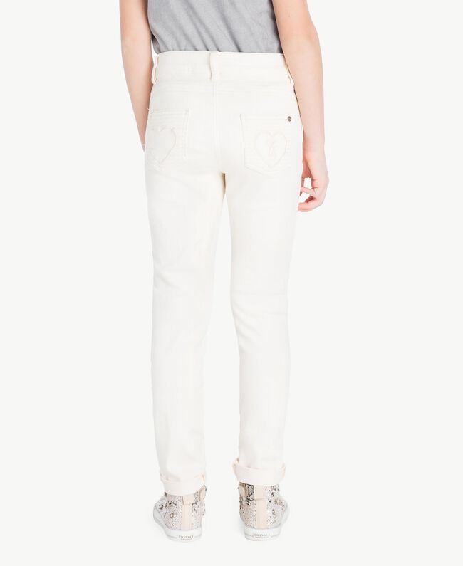 Skinny trousers Pale Cream Child GS82CP-04
