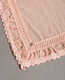"Musselin-Schal aus Baumwolle ""Pink Bouquet"" Pink Frau 191LB4ZAA-02"