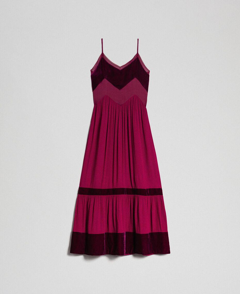 Slip dress with velvet details Red Velvet Woman 192TT2280-0S