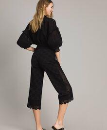 Pantalon en broderie anglaise Blanc Neige Femme 191TT2045-03