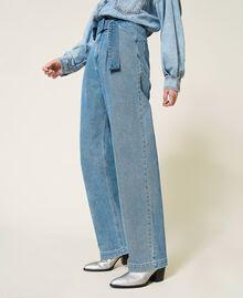"""Jeans 'Azurite' con cintura Blu """"Denim Medio"""" Donna 212AP238A-03"""