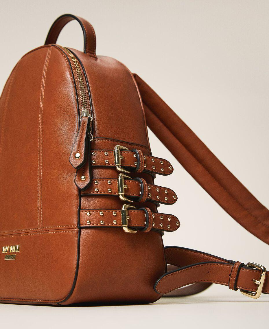 Rucksack aus Lederimitat mit Riemchen Leder Frau 202MA7042-01