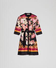 Hemdblusenkleid mit floralem Foulardprint Platzierter Foulardprint Frau 192TP2601-0S