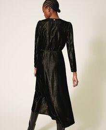 Long velvet dress Black Woman 202TT2160-03