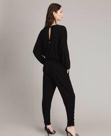 Combinaison en lurex avec manches kimono Noir Femme 191MP2020-03