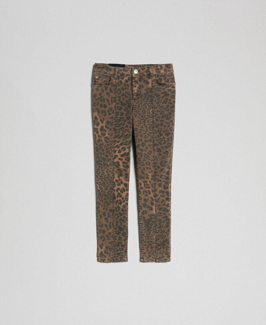 Jeans skinny con stampa animalier Stampa Animalier Donna 192MP2211-0S