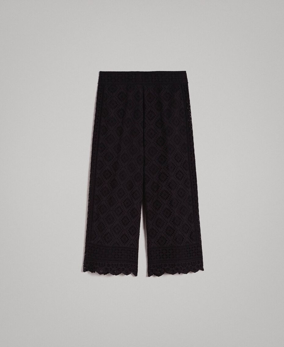 Broderie anglaise trousers Black Woman 191TT2045-0S