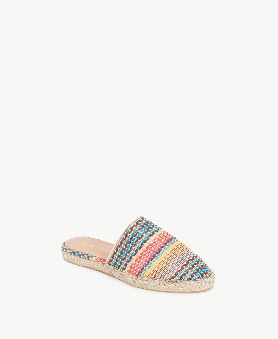 Striped slippers Multicolour Stripes Woman MS8Z55-02
