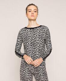 Pull-cardigan avec imprimé animalier Imprimé Animalier Lis / Noir Femme 201MP306A-05