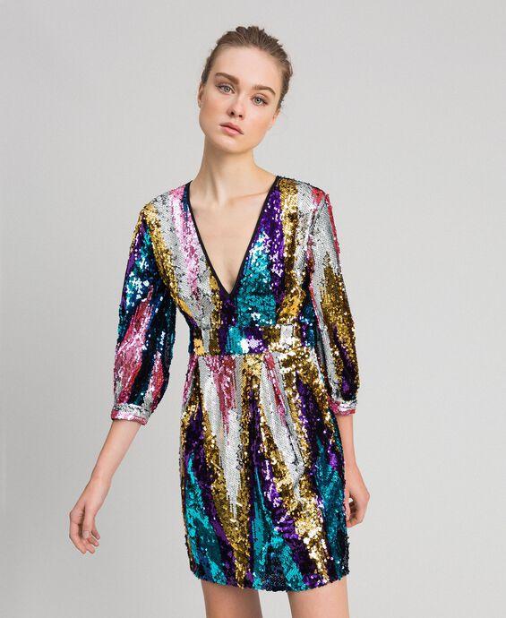 Kleid mit Allover-Pailletten
