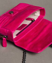 Rebel leather shoulder bag Fuxia Woman 191TO7237-06