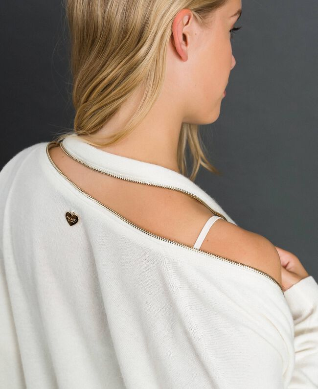 Maxi cardigan en cachemire mélangé avec fond de robe Noir Femme 192TT3092-04