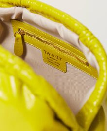 """Shiny leather soft clutch """"Led"""" Yellow Woman 211TD8060-04"""