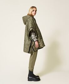 Padded cape with logo Alpine Green Woman 212TP2150-03