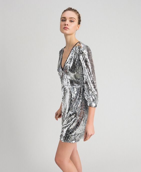 Robe avec sequins all-over