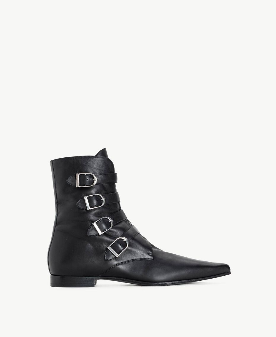 TWINSET Buckle ankle boots Black Woman CS8PE1-01