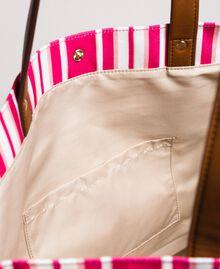 """Strandtasche mit Canvasstreifen Streifen Multicolour Pink / """"Tangerine Cream"""" Pink Frau 191LB4ALL-04"""