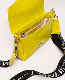 Small Rebel bag with logo shoulder strap Lime Yellow Woman 201TO823U-05