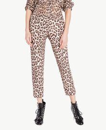Animal print trousers Animal Print Woman PS824F-01