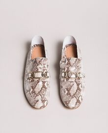 Leather loafers Ice Python Print Woman 191TCP082-03