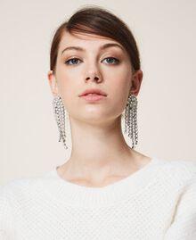 Серьги со стразами и жемчугом Серебряный Crystal женщина 202TA4312-0T