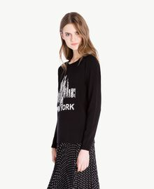 Graphic jumper Black Woman PS83YN-02