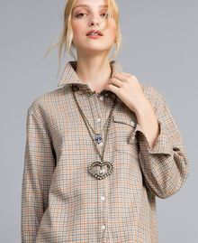 Multi-string rhinestone necklace Antique Brass Multicolour Woman AA8P75-0S