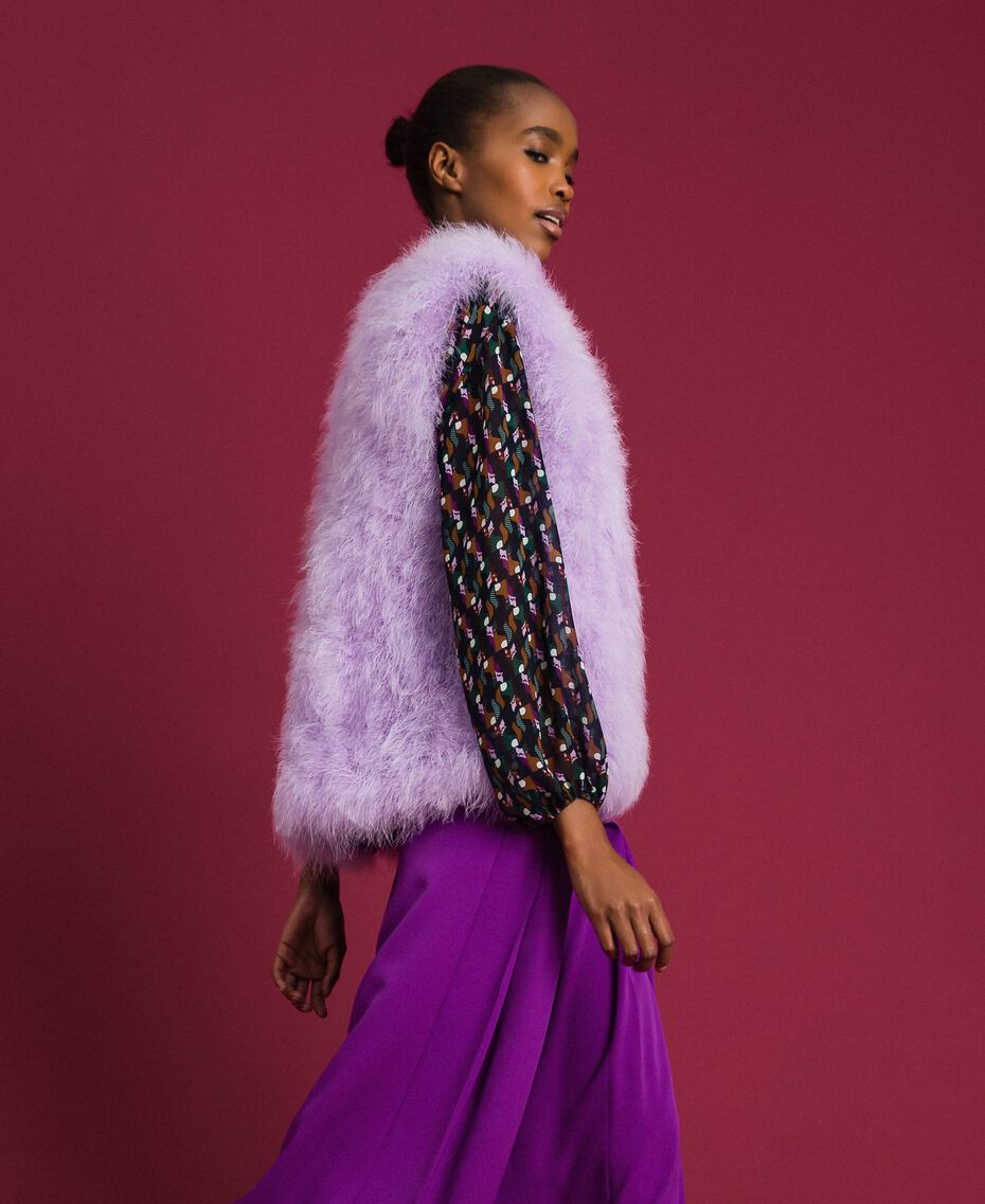 "Feather waistcoat ""Wisteria"" Purple Woman 192ST4790-02"