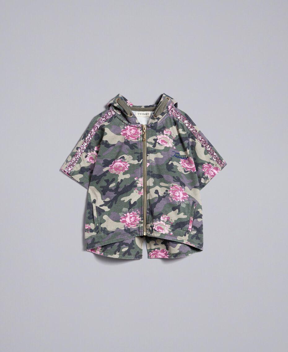 Sweat en coton stretch imprimé Imprimé Camouflage / Paillettes Enfant GA82N1-01