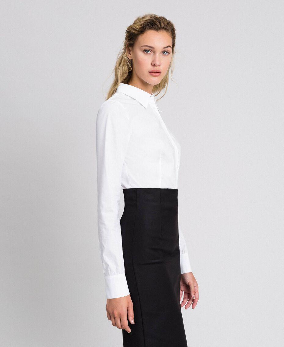 Poplin body shirt White Woman 999TT2020-01