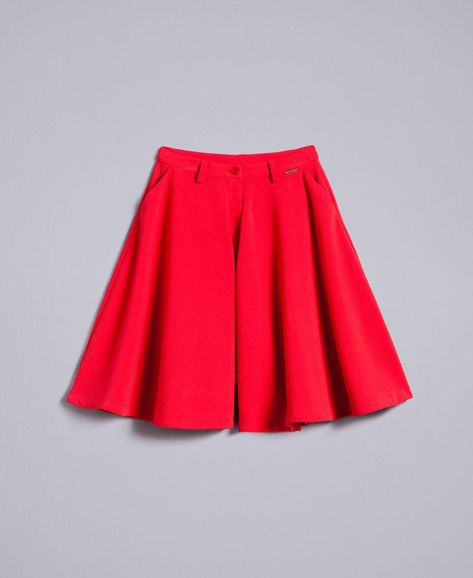 Jupe pantalon en crêpe Rouge Coquelicot Enfant GA82DC-01
