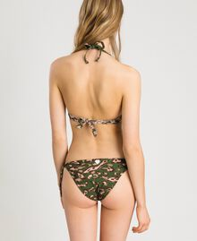 Bikinitanga mit Blumen und Nieten Motiv Tiere Amazonasgrün Frau 191LMMU88-03