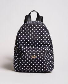 Technical fabric polka dot backpack White / Black Polka Dot Print Woman 191MA7122-02