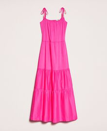 Long dress with flounces Shocking Pink Woman 201LM2AUU-0S